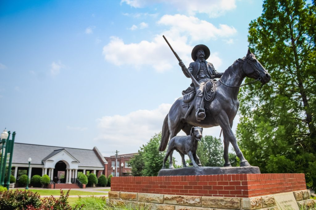 Bass Reeves Statue at Ross Pendergraft Park in Downtown Fort Smith