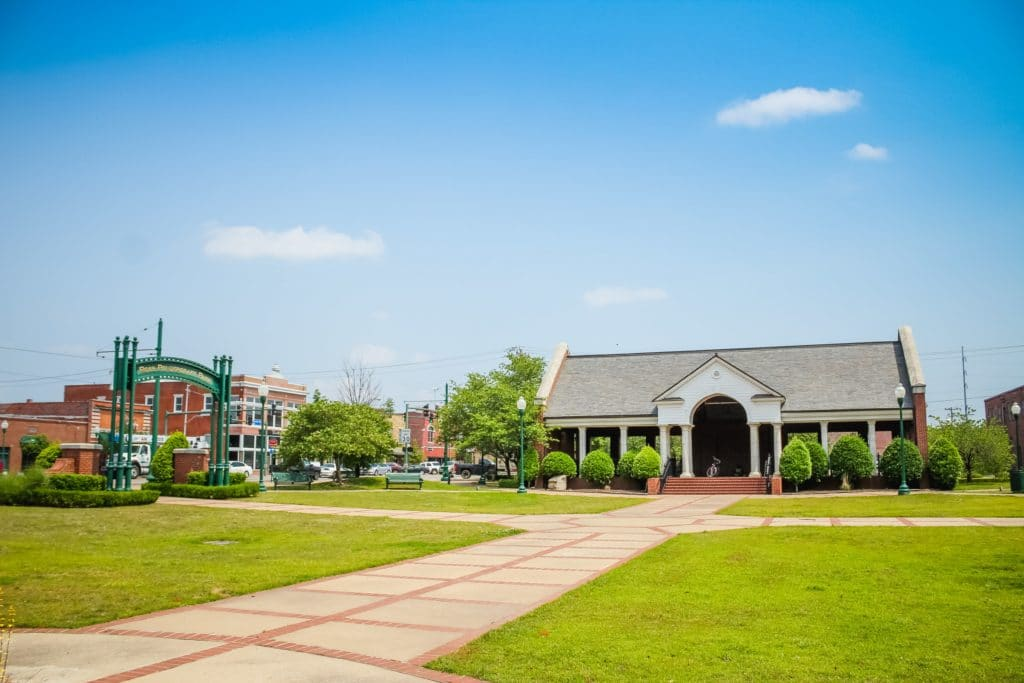 Ross Pendergraft Park located in Downtown Fort Smith